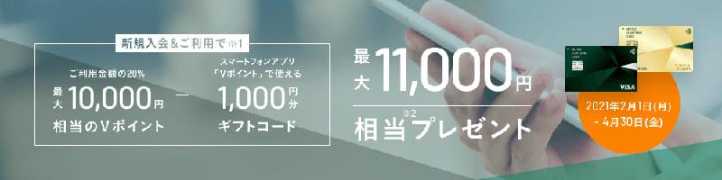 キャンペーン!最大10,000Vポイントプレゼント